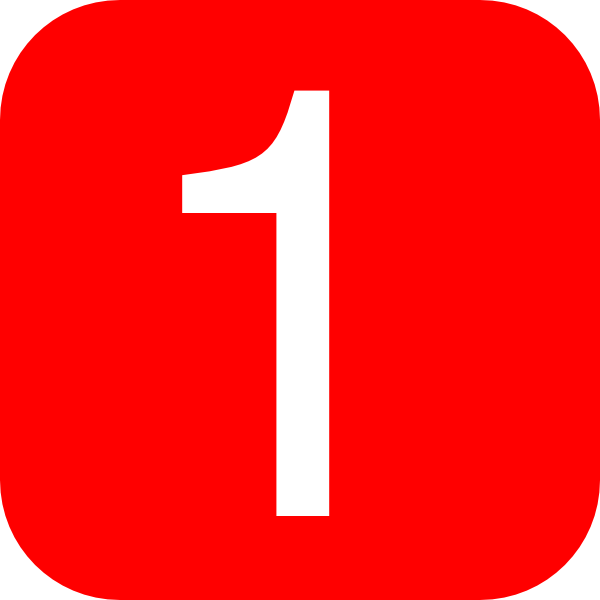 red rounded square with number 1 hi