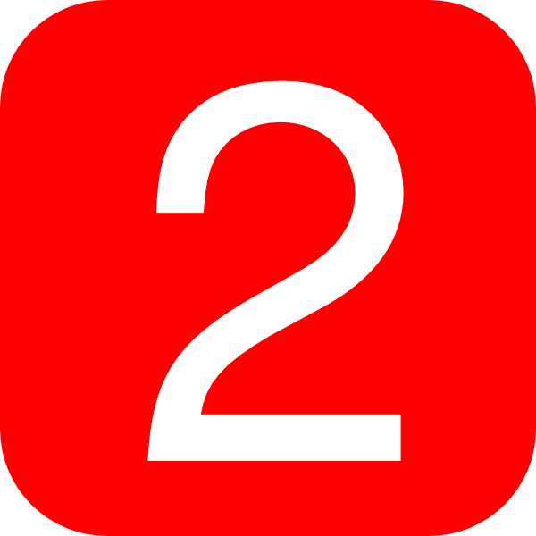 red rounded square with number 2 hi
