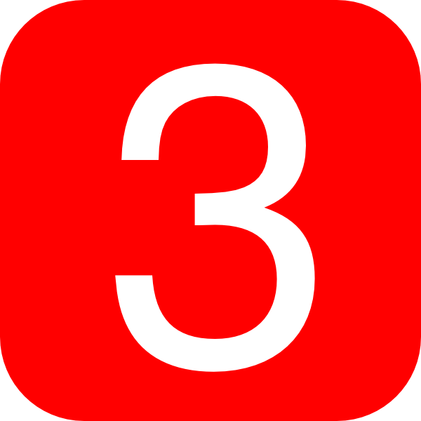 red rounded square with number 3 hi