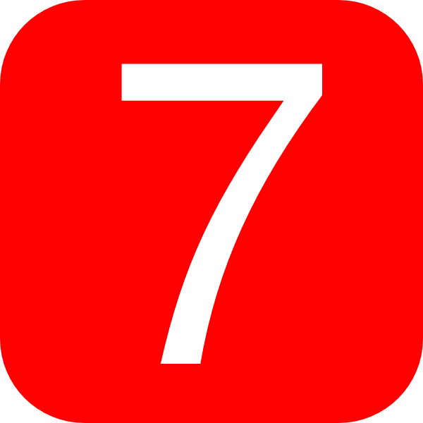 red rounded square with number 7 hi